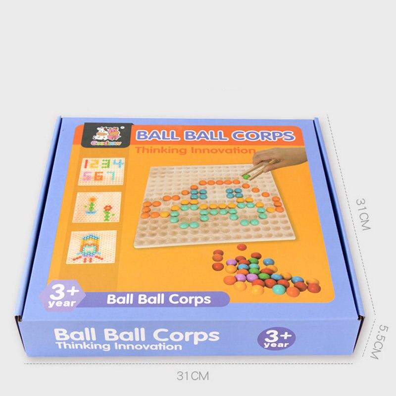 Balle balle Corps pensée Innovation jouet en bois perle jeu Montessori début des enfants en bois Intelligent enfants jouets interactifs cadeau