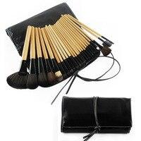 24pcs Wood Handle Makeup Brushes Set Professional Eyeshadow Eyelash Foundation Powder Make Up Brushes with Bag Pincel Maquiagem