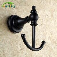 Oil Rubbed Bronze Bathroom Soild Brass Wall Mounted Towel Hook Clothe Hanger Free Shipping