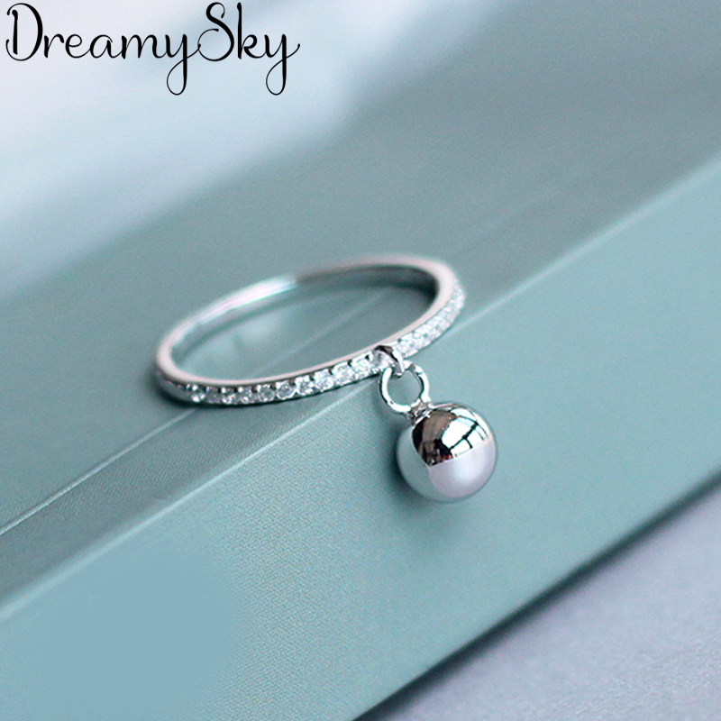 Korean Fashion Silver Color Ball Adjustable Size Rings For Women Ladies Luxury Jewelry Trendy Antique Ring Anillos 1