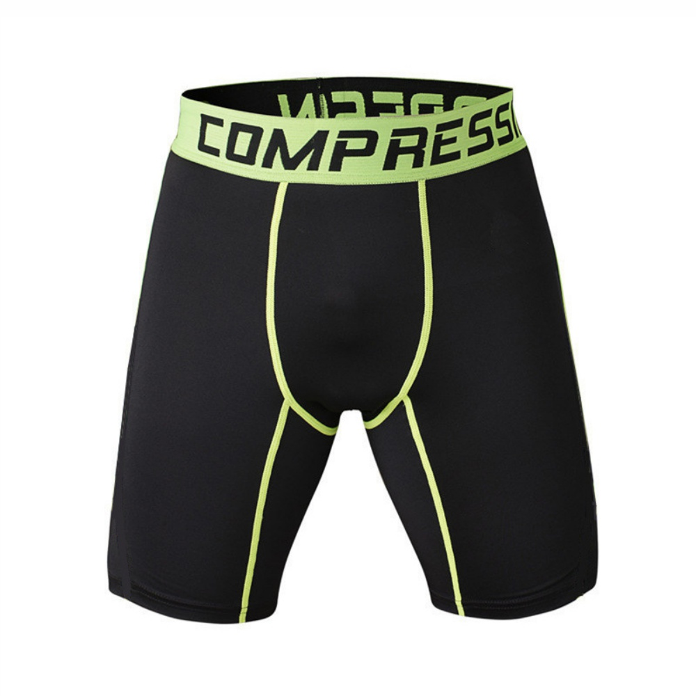 Quick Dry Flexible Breathable Pants Compression Sports Tights Men Elastic Running Fitness Gym Marathon Shorts