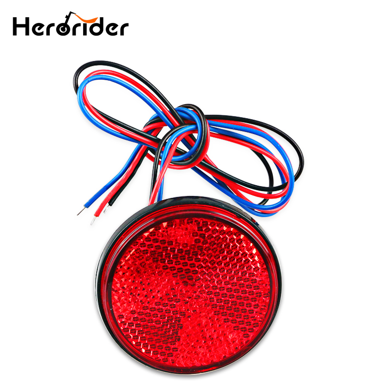 12V Round Motorcycle Tail Lights Rear Bumper Reflector LED Motor External Light Brake Stop Marker Lamp For Car Motor Truck car truck led tail rear bumper reflector light brake stop warining lamp for mercedes benz e class w203 sedan