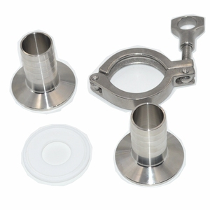 Image 3 - Sanitary Hose Barb Ferrule +Tri Clamp + PTFE Gasket Stainless Steel SUS SS 304