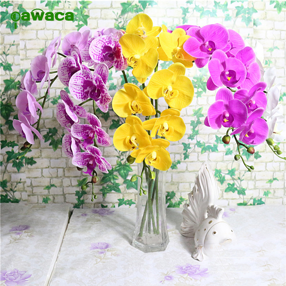 Online buy wholesale artificial flowers string from china high end simulation of nine phalaenopsis christmas pu artificial flower string for home living room dhlflorist Gallery