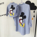 2016 New Fall  Mother and Son Clothes Family Clothing Set Mickey Mouse  Fashion Loose T-Shirt Family Matching Outfits