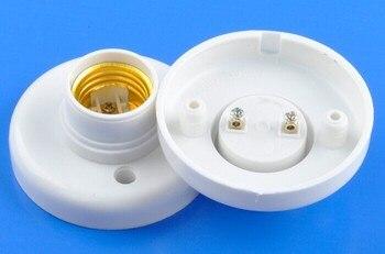 Free Shipping E27 Socket Plastic Light Lamp Holder Base E27 lamp holder