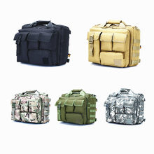 Men's Shoulder Bags Tactical Bag Computer Shoulder Bags Outdoor Hiking Fishing Military Tactical Bag 14 inch Laptop Camera(China)