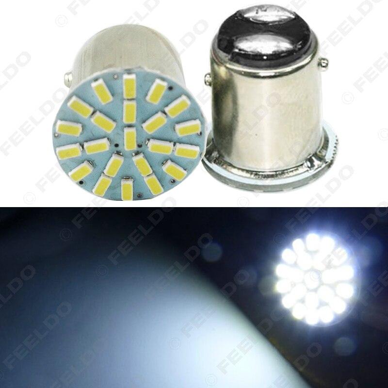 2Pcs White Car 1157 BAY15D 3014 Chip 22SMD Auto LED Light Lamp Turn Signal Brake Lights  #FD-3682 10pcs super powerful strong bulk small round ndfeb neodymium disc magnets dia 30mm x 2mm n35 rare earth ndfeb magnet