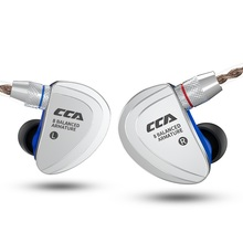 CCA C16 8BA the units in the ear earphone16 Balanced Armature HIFI Monitoring Earphone Headset With Detachable Detach 2PIN Cable kz zs6 eight driver earphone 2dd 2ba dynamic and armature in ear hifi stereo sport headset detachable bluetooth upgrade cable