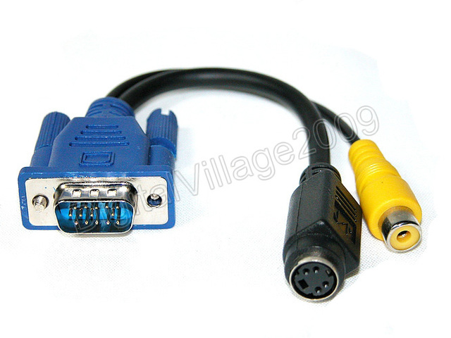 15 Pin VGA To 7 S Video RCA Composite Adapter