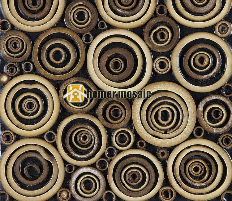 Arte 3d Wallpaper Price Special Unique Design Round Natural Bamboo Art Mosaic