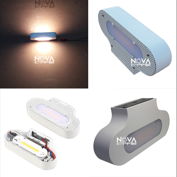 AC100 to AC240V Italy elegant innovative design lighting Linear COB LED indoor premium opal diffused wall lamp 12W 2pcs ac100 to ac240v hotel room bedside lighting 5w minimal rotatable diffused study lamp led
