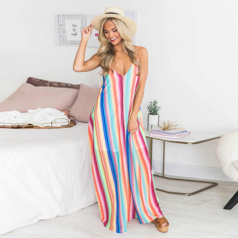 Женское летнее платье в богемную полоску с глубоким v-образным вырезом, сексуальное платье с черепом, пляжные повседневные платья, 2019 Vestidos X8