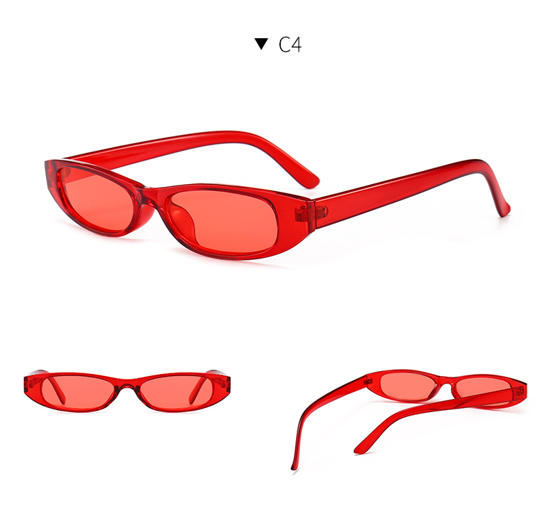 HTB1.cEslStYBeNjSspkq6zU8VXar - Vintage Rectangle Sunglasses Women Cat Eye Designer Ladies Small Frame Black Red Sun Glasses Brand Retro Skinny Eyewear