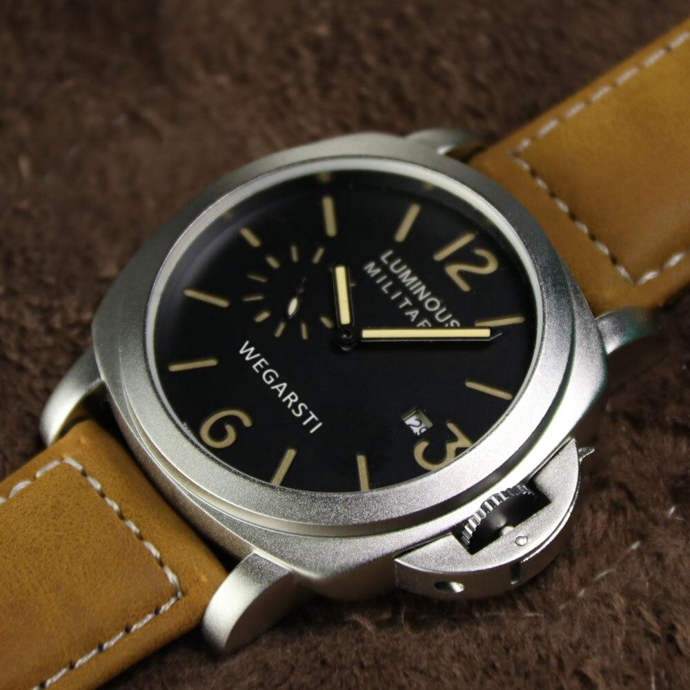 WEGARSTI Męskie Zegarki Top Marka Luksusowy Skórzany Pasek Zegarki - Męskie zegarki - Zdjęcie 4