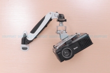 PR03A Aluminum Alloy 360 Degree Projector Wall Mount Full Motion Retractable Universal Projector Hanger Bracket