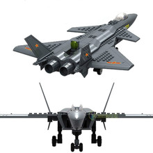 Military Toy Modern Warfare J-20 Heavy Stealth Fighter JX003 Action Figures 1:50 Model Building Block Sets Compatible With Legoe