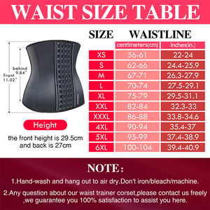 Image 3 - Burvogue Latex Waist Trainer Corsets and Bustiers Cincher Steel Bone Underbust Shaper Slimming Control Sexy Corset Plus Size