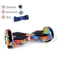 ХОВЕРБОРДА свет балансируя Bluetooth ключевой мешок geroscope два колеса скейтборды взрослых Электрический аккумулятор за бортом