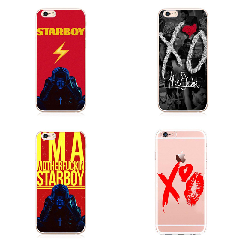 US $1 99 |For iPhone 7Plus 7 6S 6Plus 6 5 5S SE 2017 New The Weeknd Starboy  Pop Singer Coque Phone Case Cover Shell Bag For iPhone X Cases-in