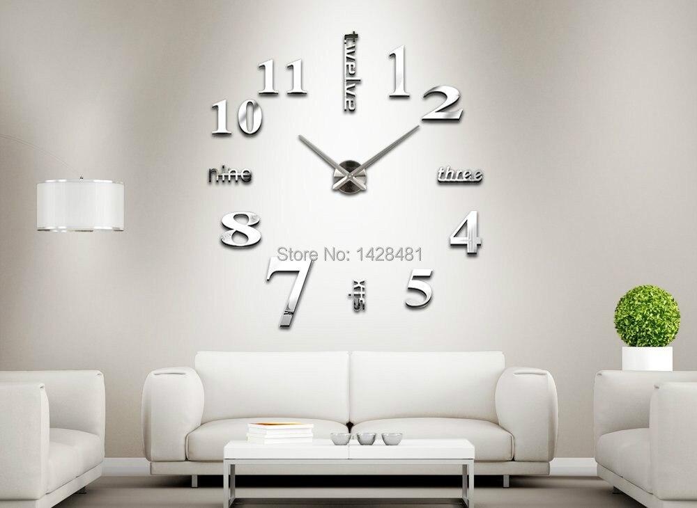 oversize digital specchio orologio da parete design moderno ...