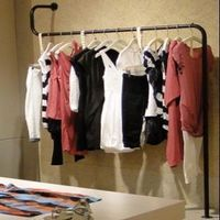 Clothing Display Shelf On The Wall Hang Exhibition Stand Apparel Clothing Store Shelves Island Console