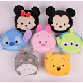 2016 Hot Sales Cute Cartoon Mini Haversacks Pink Pig Stitch Micky Winnie Greatest Gift For Children Birthday Christmas Gift