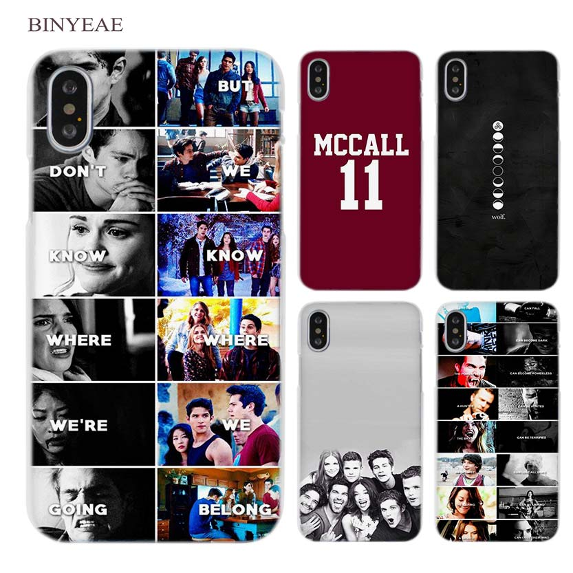 BINYEAE Teen Wolf Bromance Mieczyslaw Stiles Clear Cell Phone Case Cover for Apple iPhone X 6 6s 7 8 Plus 4 4s 5 5s SE 5c