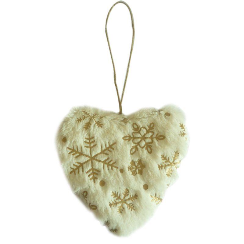 Mignon blanc & or coeur & étoile & arbre pendentifs noël pendentif ornements maison noël fête décor enfant cadeau maison noël décor
