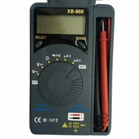 XB-866 LCD Multimeters Auto Range Digital Multimeter Voltmeter Tester Tool AC DC Pocket Mini Professional Meter Test 1.5V XB866 Measuring Tools