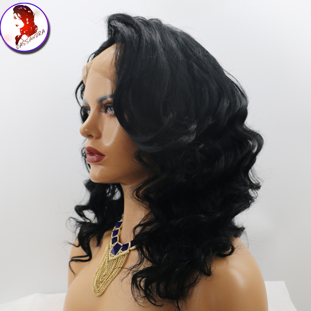 8A Grade180% Density Lace Frontal Wig Peruvian Lace Front Wigs Loose Wave With Baby Hair For Black Woman Full Lace Virgin Wig