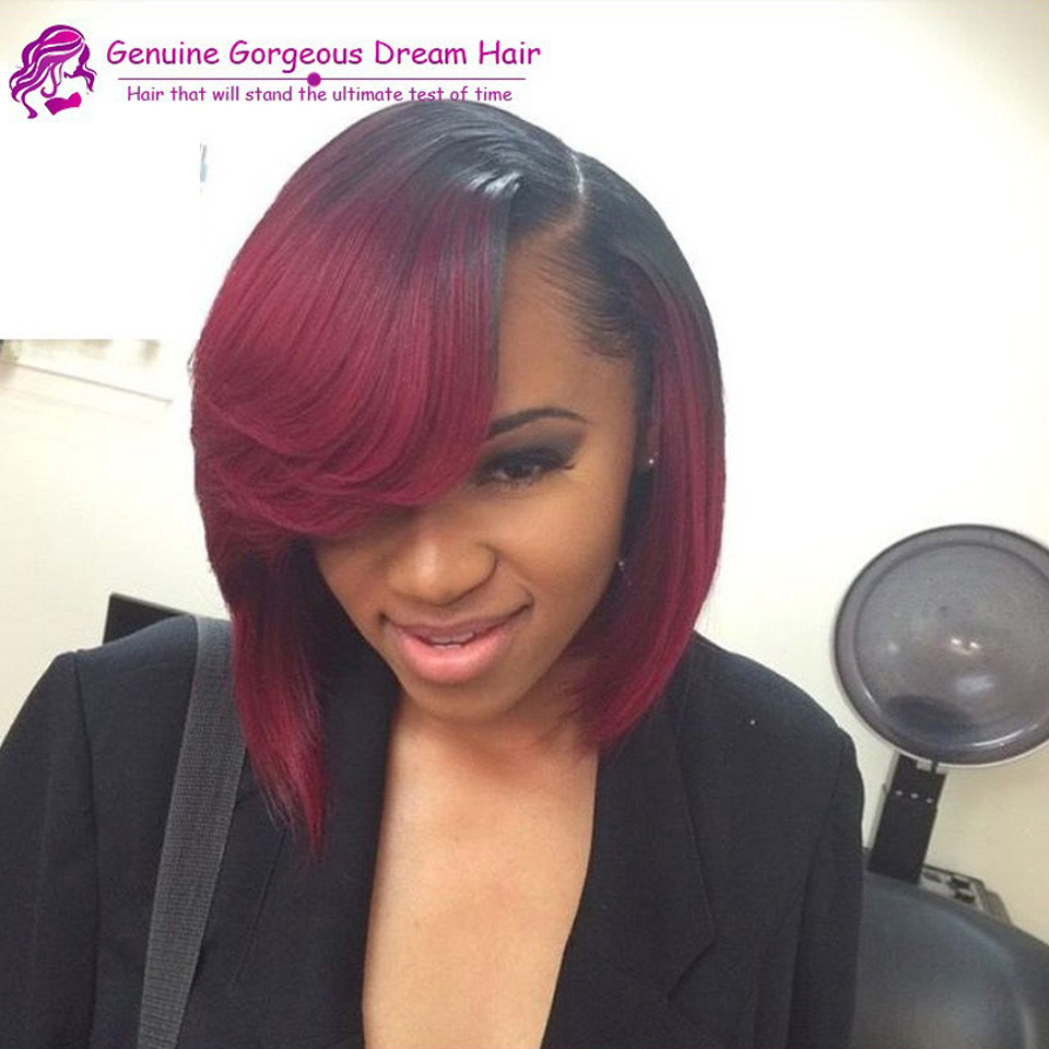 Tremendous Full Lace Ombre Wigs Bob Short Ombre Two Tone Wig Glueless Ombre Schematic Wiring Diagrams Amerangerunnerswayorg