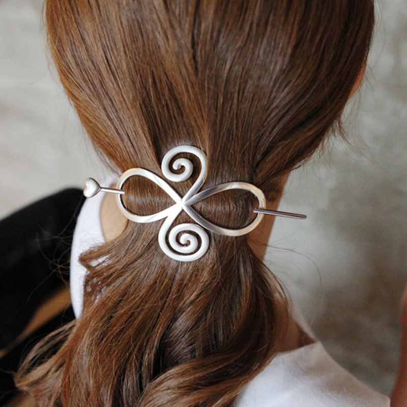 Hot Sale Simple Hairclip Hair Women Stick Tools Ponytail Metal Chinese Hairpin hollow   Headwear