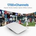 Q1404 Android Tv Box Quad Core Android Iptv Caja Con 6 Meses Gratis de Suscripción Iptv Sky Italia España Francés Indio países bajos