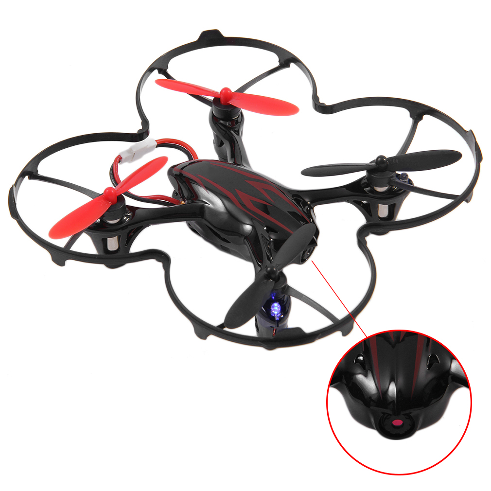 HUBSAN Original H107C 4 Axes 2 4GHZ Wireless Remote Control Quadcopter With 2MP HD Camera Best Gift Black Red in Camera Drones from Consumer Electronics