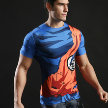 Dragon Ball 3D Men Anime T-shirt Comics Compression Tops Goku Ball Z