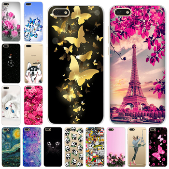 Silicone Soft Cover For 5.45 Huawei y5 2018 Printing Cute Cases For Huawei Y 5 Y5 prime 2018 Fundas Coque Phone Bag Capa Bumper image
