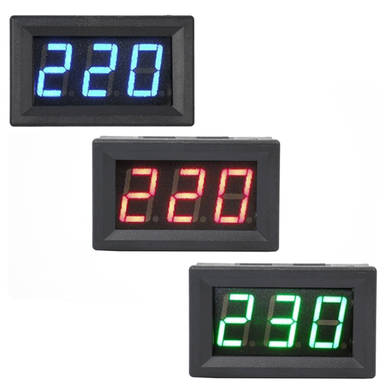 High Quality YB27A Blue Red Green LED Display AC60-300V /AC60V-500V Digital Voltmeter Voltage Meter voltage detector 40%off