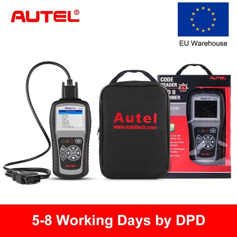 Autel MaxiLink ML519 OBD2 Scanner Car Diagnostic Tool Scanner Engine EOBD OBD2 Code Reader Scanner Automotivo Batter Than ELM327