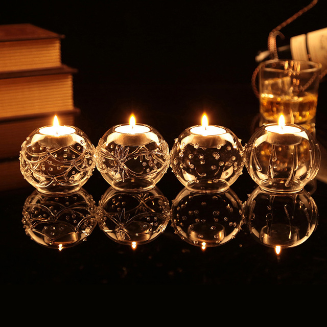 Handn Tealight Candle Holders Crystal Votive Holder Wedding Party Table Decoration Centerpieces Festival Supplies