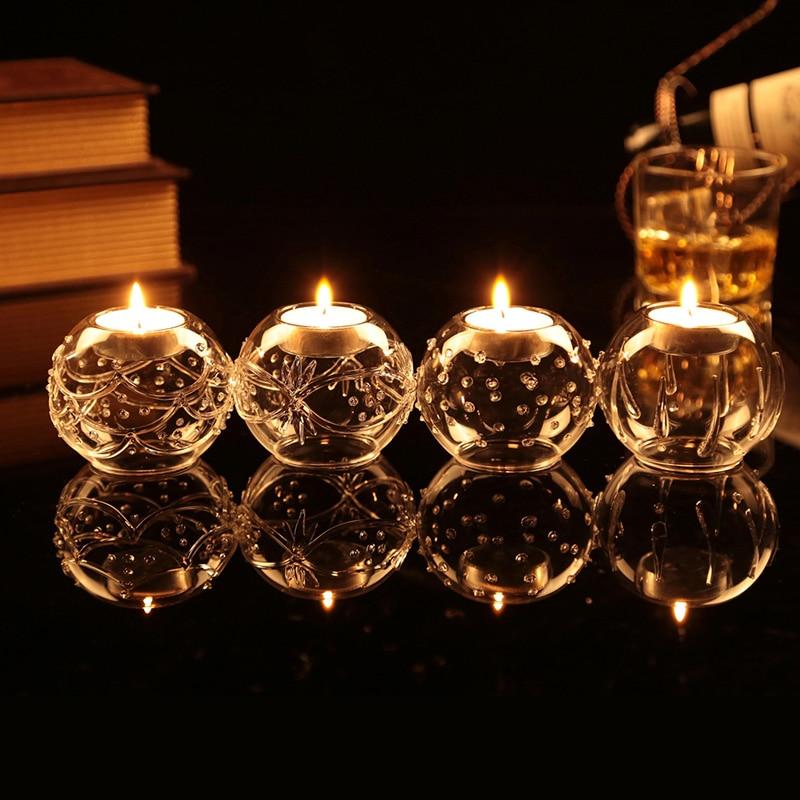 handblown vintage tealight candle holder votive candle holders wedding table decoration