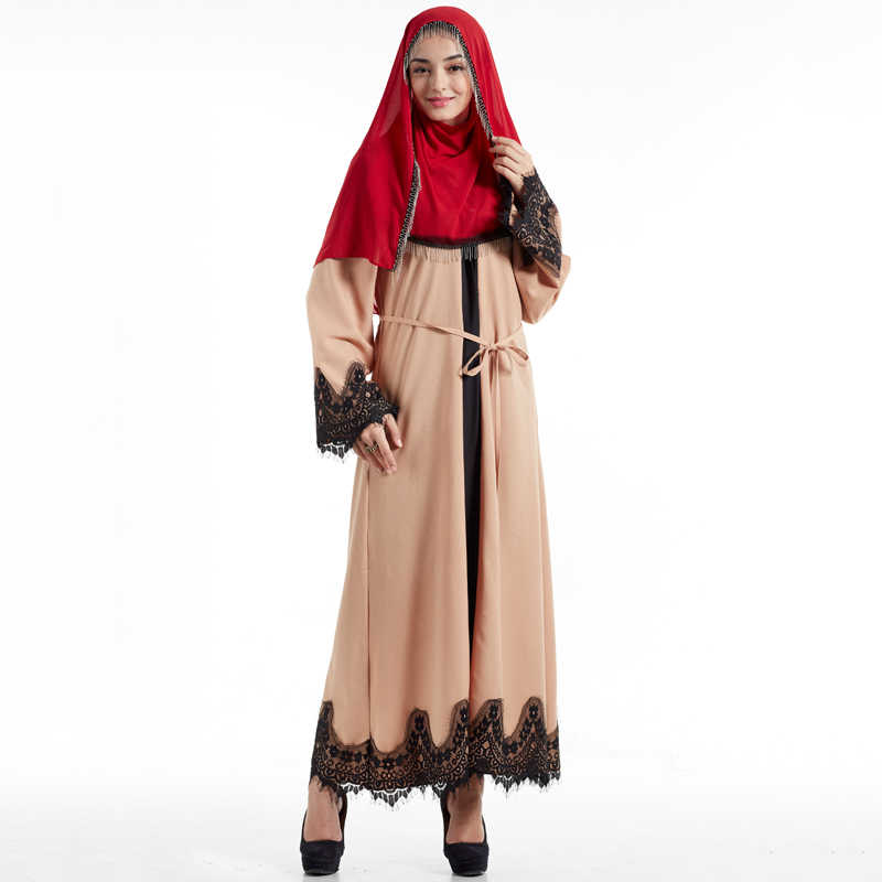 Dubai Abaya Muslim Dress Women Ramadan Kaftan Islam Caftan Hijab Dress Eid Djellaba Islamic Clothing Baju Muslim Wanita Malaysia