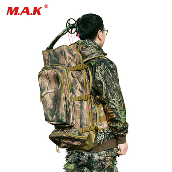 High Quantity Top Opening Universal Compound Bow Bag 600D Nylon Camouflage Printing Backpack For Archery Hunting Shooting