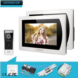 "HOMSECUR 7 ""Видеодомофон Безопасности ВодонепроницаемаяКамера монитор памяти для квартиры"