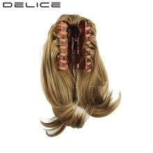 [DELICE] 26 см/10 дюйма женские Прямые Коготь Клип В Термостойкость Волокна Синтетические Волосы Короткие хвост
