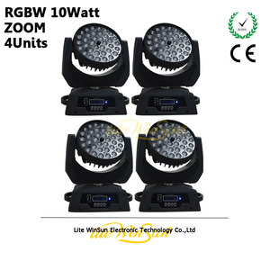 Litewinsune 4pcs/carton LED Wash Moving Head Lighting 36*10W RGBW LED Disco Light ZOOM