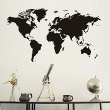 Atlas World Map font b Wall b font font b Sticker b font Black font b