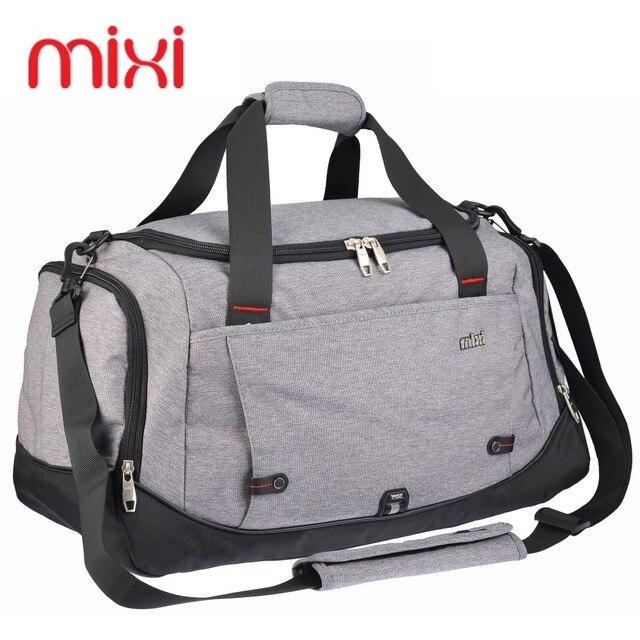 Mixi 39L Polyester Sport Bag Training Gym Men Woman Fitness Bags Durable Multifunction Handbag Outdoor