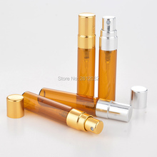 5ML Mini Portable Glass Perfume Bottle With Atomizer Empty Cosmetic Containers For Travel F2017185