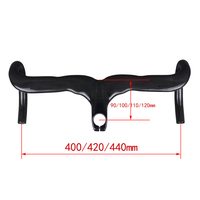 NO LOGO bicycle handlebar full carbon road handlebar road bike races carbon bicycle handlebar size 40/42/44